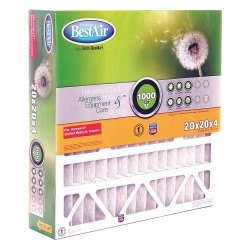 BestAir PRO - 5-2020-8-2 - 20x20x5 Air Cleaner Replacement Filter with MERV8; PK2