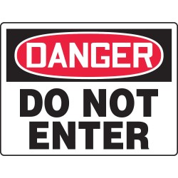 Accuform Signs - MADM125VP - Exit and Entrance, Danger, Plastic, 24 x 36, With Mounting Holes, Not Retroreflective
