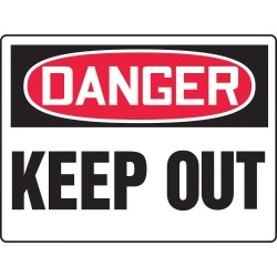 Accuform Signs - MADM127VP - Keep Clear, Danger, Plastic, 24 x 36, With Mounting Holes, Not Retroreflective