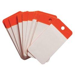 Brady - 102002 - Blank Tag, Orange, Height: 4 x Width: 2, 25 PK