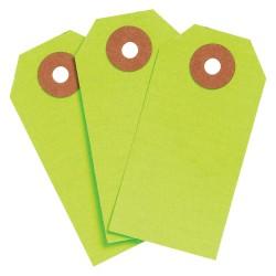 Brady - 102064 - Blank Tag, Fluorescent Green, Height: 2-3/4 x Width: 1-3/8, 1000 PK