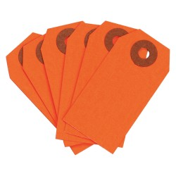 Brady - 102080 - Blank Tag, Fluorescent Red, Height: 2-3/4 x Width: 1-3/8, 1000 PK