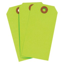 Brady - 102067 - Blank Tag, Fluorescent Green, Height: 4-1/4 x Width: 2-1/8, 1000 PK