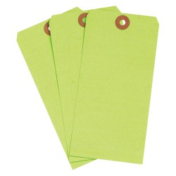 Brady - 102071 - Blank Tag, Fluorescent Green, Height: 6-1/4 x Width: 3-1/8, 1000 PK
