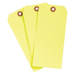 Brady - 102079 - Blank Tag, Fluorescent Yellow, Height: 6-1/4 x Width: 3-1/8, 1000 PK