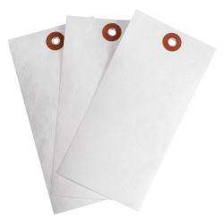 Brady - 102037 - Blank Tag, White, Height: 5-1/4 x Width: 2-5/8, 1000 PK