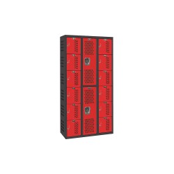 Hallowell - AWA282-626 - Box Locker/Wardrobe Combo, Vntilatd, Steel
