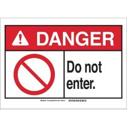 Brady - 143733 - Entrance Sign, 10 x 14, Plastic