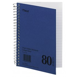 Acco Brands - MEA06542 - Notebook, 7 x 5 In, Blue