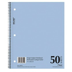 Acco Brands - MEA06552 - Notebook, 11 x 8-1/2 In, Blue