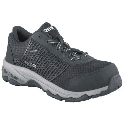 Reebok - RB4625-8.5W - 3H Men's Athletic Style Work Shoes, Composite Toe Type, Mesh Upper Material, Black, Size 8-1/2W