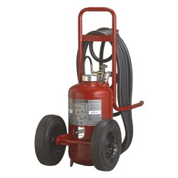 Buckeye Fire Equipment - 31110 - Dry Chemical, ABC Class Wheeled Fire Extinguisher with 125 lb. Capacity and 43 sec. Discharge Time