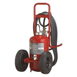 Buckeye Fire Equipment - 31310 - Dry Chemical, BC Class Wheeled Fire Extinguisher with 125 lb. Capacity and 54 sec. Discharge Time