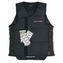 Ansell-Edmont - 97-609 - Cooling Vest, Polyester, Black, S/M, Fits Chest Size 33 to 39