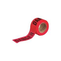 Brady - 91088 - Brady 3 X 50 Yd Black/Red Wood Fiber Flagging Tape DANGER, ( Roll )