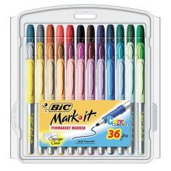 BIC Pens - BICGXPMP361ASST - Permanent Marker, Assorted, PK36
