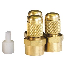JB Industries - A31444 - 1/4 Access Valve with M Flare, PK3