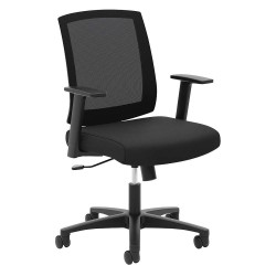 basyx (HON) - HVL511.LH10 - Mesh Chair, Black, Unassembled, Fixed