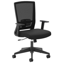 basyx (HON) - HVL541.LH10 - Black Mesh Desk Chair 23 Back Height, Arm Style: Adjustable