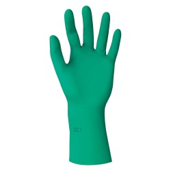 Ansell-Edmont - 73-711 - 12 Powder Free Unlined Textured Neoprene Sterile Disposable Gloves, Green, Size 6, 200PK