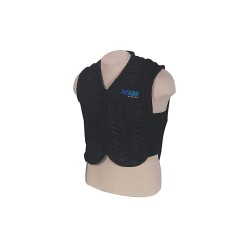Coolshirt Systems - AVA-XL - Cooling Vest, Polyester, Cotton, Black, XL, Fits Chest Size 43 to 45