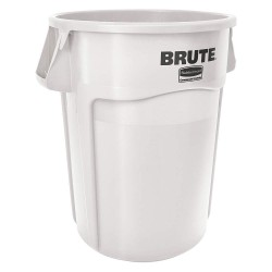 Rubbermaid - 1779740 - Container Brute 44 Gal Wh