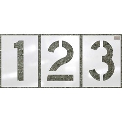C.H. Hanson - 70360 - Stencil, Number Kit, 18, Low Density Polyethylene, 1 EA