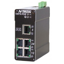 Red Lion Controls - 105TX-POE - Red Lion 105TX-POE Ethernet Switch, Five 10/100BaseTX Ports POE