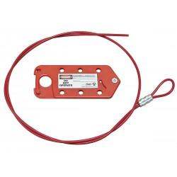 Zing Enterprises - 7132 - Cable Lockout, Vinyl, 6 ft., Hasp Cable Lockout Style