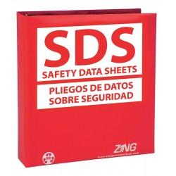 Zing Enterprises - 6033 - SDS Safety Data Sheets Binder, English, Spanish, 1-1/2 Ring Size