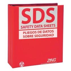 Zing Enterprises - 6034 - SDS Safety Data Sheets Binder, English, Spanish, 2-1/2 Ring Size