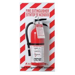 Zing Enterprises - 2671 - FireExtinguisher Back Plate, 29x13In, Glow