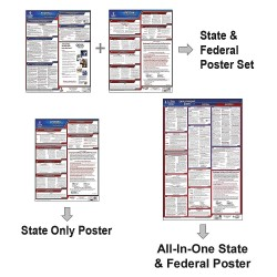 JJ Keller - 100-AK-1 - Labor Law Poster, AK Federal and State Labor Law, English