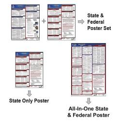 JJ Keller - 100-AL-1 - Labor Law Poster, AL Federal and State Labor Law, English