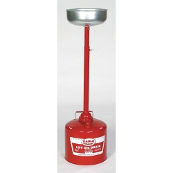 Eagle Mfg - 605 - Lift Oil Drain, 5 gal., Flammables, Galvanized Steel, Red