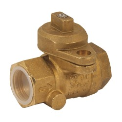 Jomar Valve - 240-004B - Brass FNPT x FNPT Gas Ball Valve, Locking Wing, 3/4 Pipe Size