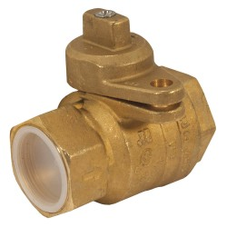 Jomar Valve - 240-007B - Brass FNPT x FNPT Gas Ball Valve, Locking Wing, 1-1/2 Pipe Size