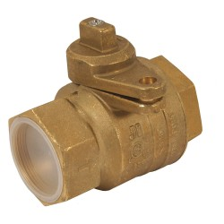 Jomar Valve - 240-008B - Brass FNPT x FNPT Gas Ball Valve, Locking Wing, 2 Pipe Size