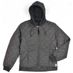 Richlu - 243511-L-BLK - Womens Freezer Jacket, Polyester, Black, L