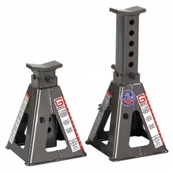 Gray - 7THF - 9 Pin Style Vehicle Stands; Lifting Capacity (Tons): 7