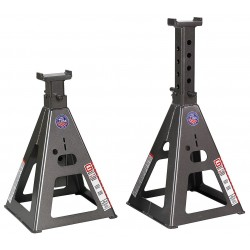 Gray - 35TF STANDS - 10 Pin Style Vehicle Stands; Lifting Capacity (Tons): 35