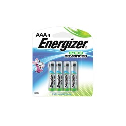 Energizer - XR92BR-4 - AAA Standard Battery, Energizer Eco Advanced, Alkaline, PK4