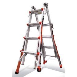 Little Giant - 12017-801 - Little Giant 12017-801 Revolution Aluminum 4 in 1 Ladder M17 Type IA 300 lb. Capacity