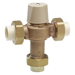 Watts Water Technologies - 0006270 - 3/4 Solvent Weld Inlet Type Thermostatic Mixing Valve, Lead Free Copper Silicon Alloy, 12 gpm