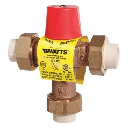 Watts Water Technologies - 0006273 - 3/4 Solvent Weld Inlet Type Temperature Control Valve, Lead Free Copper Silicon Alloy, 23 gpm