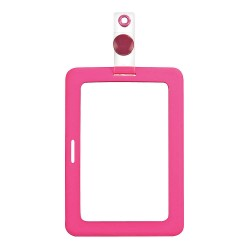 Other - 038946 - Badge Holder, Rubberized, Pink, PK2