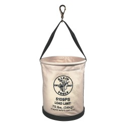 Klein Tools - 5109PS - Straight Wall Bucket, Natural #6 Canvas