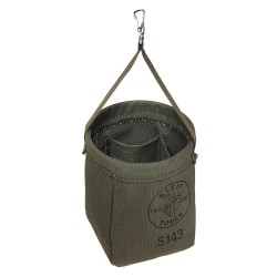 Klein Tools - 5143 - Tapered Bottom Bag, Green Canvas