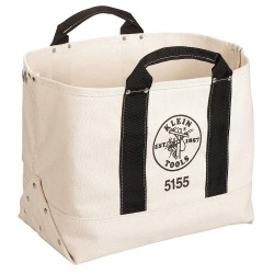 "Klein Tools - 5155 - Canvas Tool Tote, 17"" Width, Number of Pockets: 1, Tan"