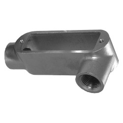 Calbrite - S60500LL00 - LL-Style 1/2 Conduit Outlet Body with Cover, Threaded Stainless Steel, 4.0 cu. in.